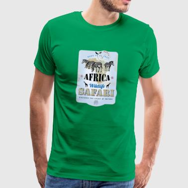 Zebras Africa Wildlife Safari Africa Giraffes Lion - Men's Premium T-Shirt