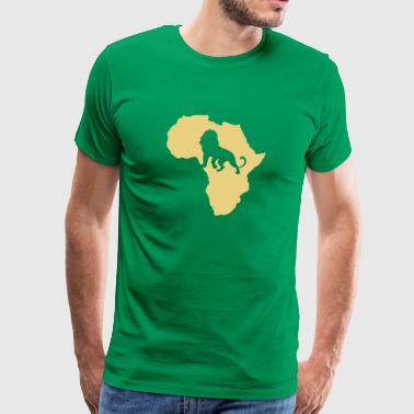 Afrikaanse wildlife Leeuw Leeuw Wildlife Safari Savannah - Mannen Premium T-shirt
