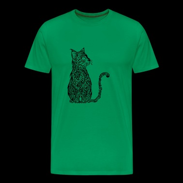 Chat Tribal noir - T-shirt Premium Homme