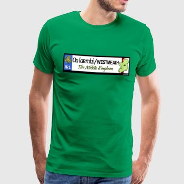 WESTMEATH, IRELAND: licence plate tag style decal - Men's Premium T-Shirt