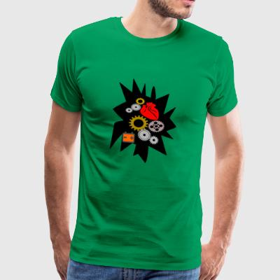 mechanical heart - Men's Premium T-Shirt