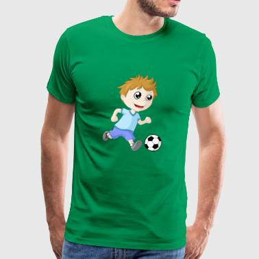 Little football boy - Men's Premium T-Shirt