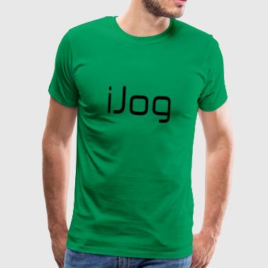 IJog, iconic design for joggers and runners. - Men's Premium T-Shirt