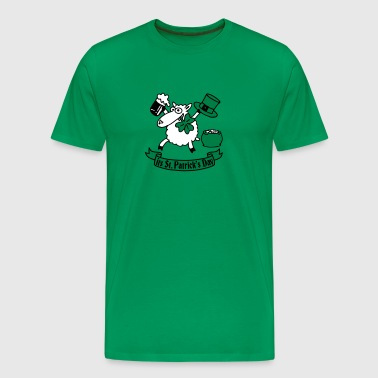 st_patricks_sheep_b - T-shirt Premium Homme