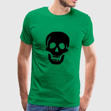 Skull head black - Men's Premium T-Shirt