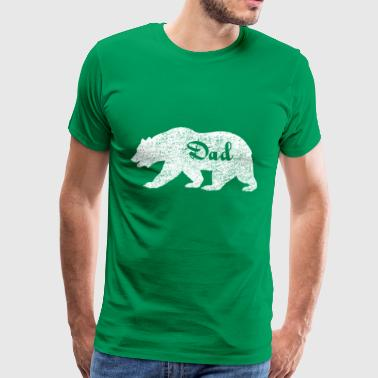 Camping Bear for Dad. Gifts for dads. Father Bear. - Men's Premium T-Shirt