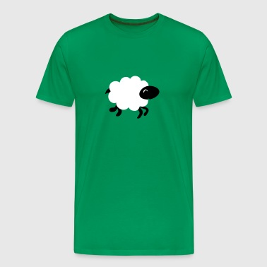 running sheep  - Men's Premium T-Shirt
