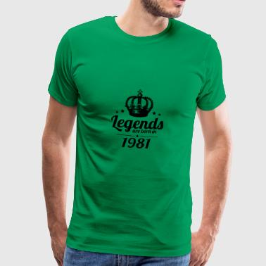 Legends 1981 - Männer Premium T-Shirt