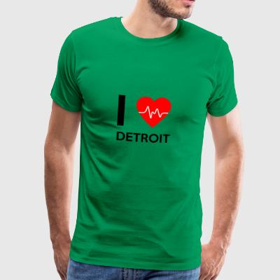 I Love Detroit - I love Detroit - Men's Premium T-Shirt
