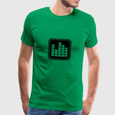 Music Icon Equalizer - Mannen Premium T-shirt