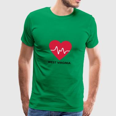 Heart West Virginia - Mannen Premium T-shirt