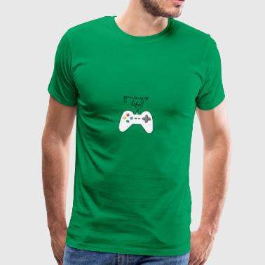 Game / Gamer / Games: Gaming is life. - Men's Premium T-Shirt
