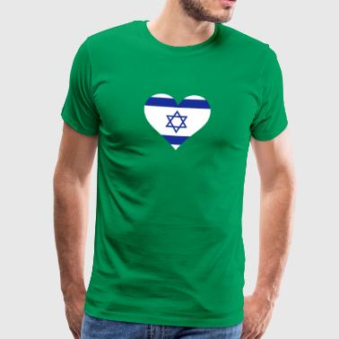 Et hjerte for Israel - Premium T-skjorte for menn