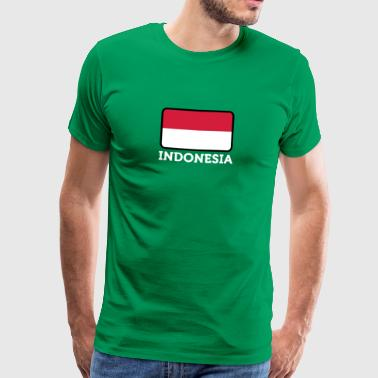 Nationale Vlag Van Indonesië - Mannen Premium T-shirt
