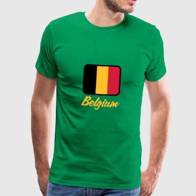 National Flag Of Belgium - Men's Premium T-Shirt