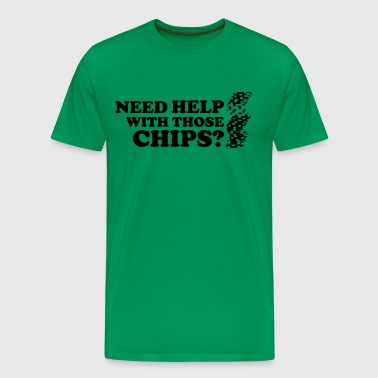 Poker: Need help with those chips? - Mannen Premium T-shirt