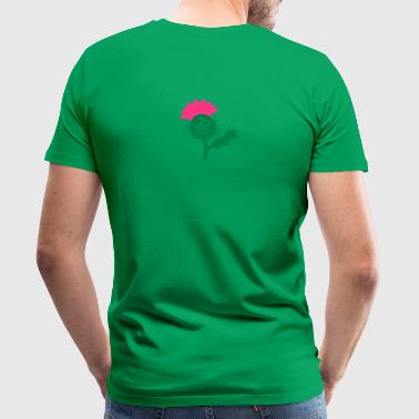 single head flower of Scottish Thistle Scotland - Men's Premium T-Shirt