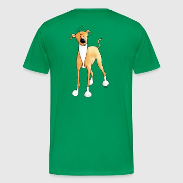 Funny Greyhound - Dog - Dogs - Men's Premium T-Shirt