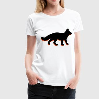 A-hunting fox - Women's Premium T-Shirt