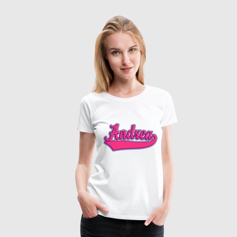 Andrea - Name as a sport swash - Women's Premium T-Shirt