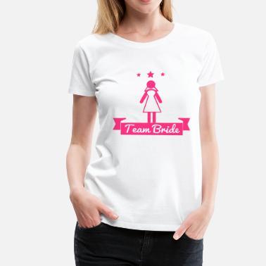 285fde91 Hen Utdrikningslag Team bride - hen party - Premium T-skjorte for kvinner