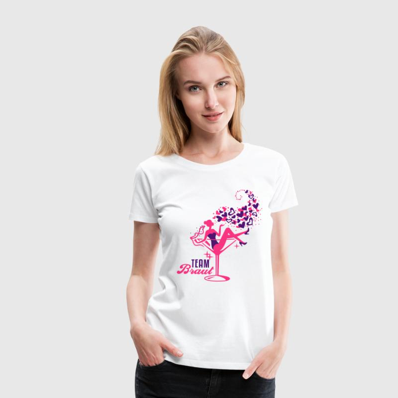 Braut - Bride - Team - JGA - Cocktail - Herz - 2C - Frauen Premium T-Shirt