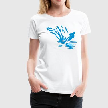 water ski - Women's Premium T-Shirt