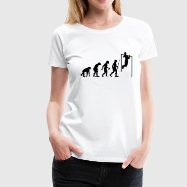 Evolution Pull Up - Frauen Premium T-Shirt