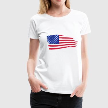 usa_flag_on_white - Vrouwen Premium T-shirt