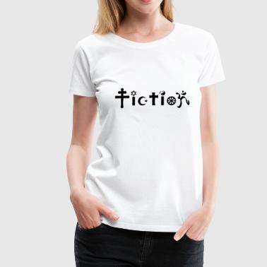 Atheist Shirt: It's just Fiction - Premium-T-shirt dam