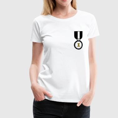 Abzeichen Beste Held Medal Award Winner Best Master Sports Decoration - Frauen Premium T-Shirt