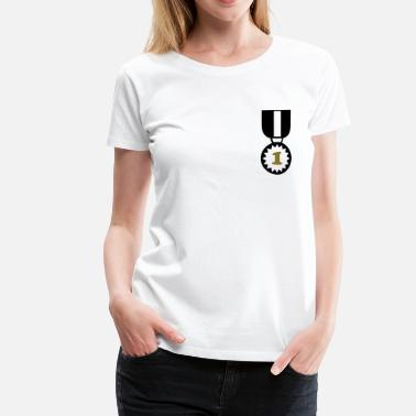 Siegerkranz Ehrenkranz Abzeichen Medal Award Winner Best Master Sports Decoration - Frauen Premium T-Shirt