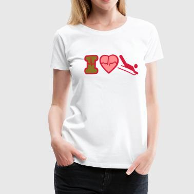 i love winter sports - Women's Premium T-Shirt
