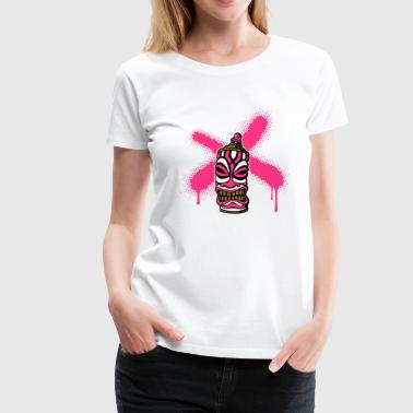 SPRAY A CROSS TIKI (P) von toneyshirts.de - Frauen Premium T-Shirt