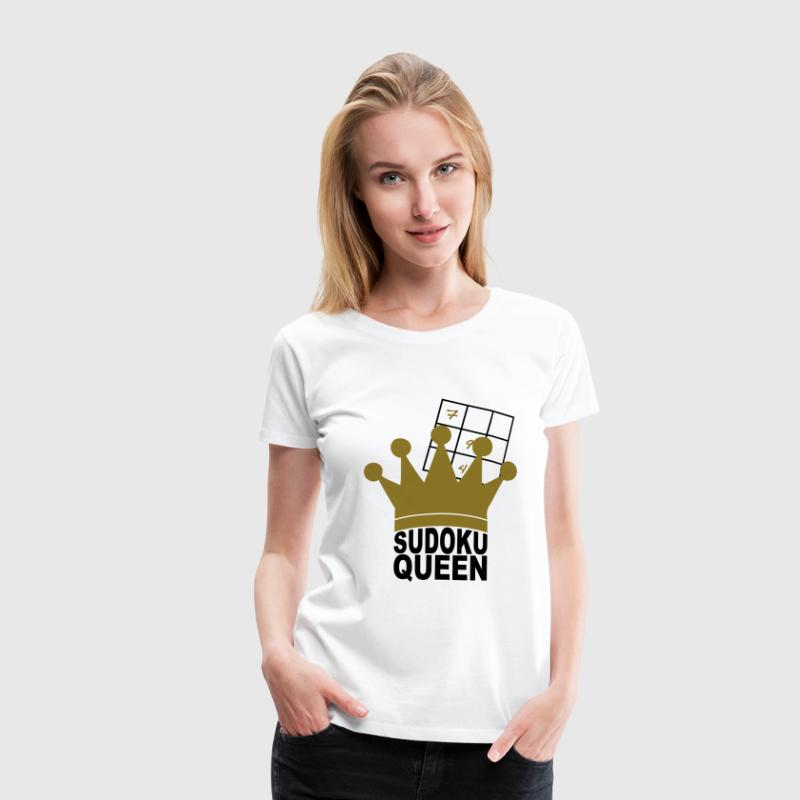 Sudoku Queen - Frauen Premium T-Shirt