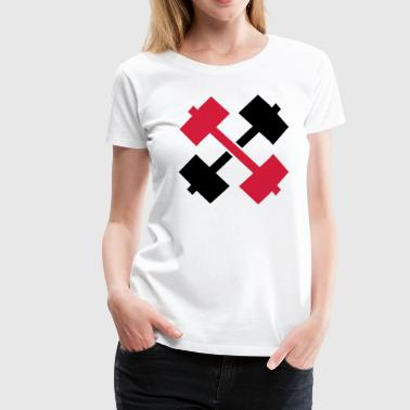 Crossed Barbells  - T-shirt Premium Femme