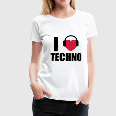 I LOVE TECHNO 1 - Premium T-skjorte for kvinner