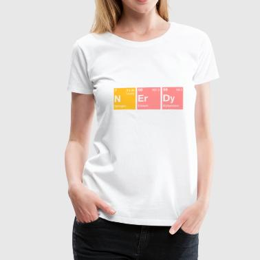 Nerdy Periodic Table Word - Women's Premium T-Shirt