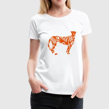 tribal gepard wildtiermotiven - Frauen Premium T-Shirt