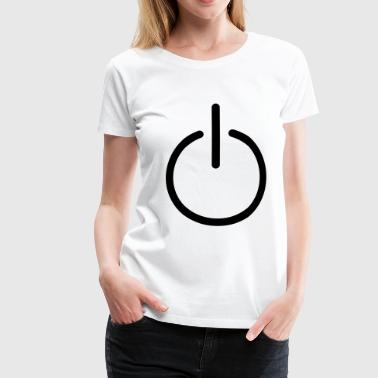 power button - Women's Premium T-Shirt