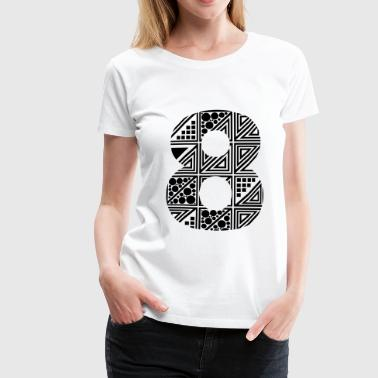 8 number eight - Dame premium T-shirt
