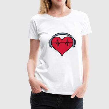 Heartbeat Headphones 2 - Women's Premium T-Shirt