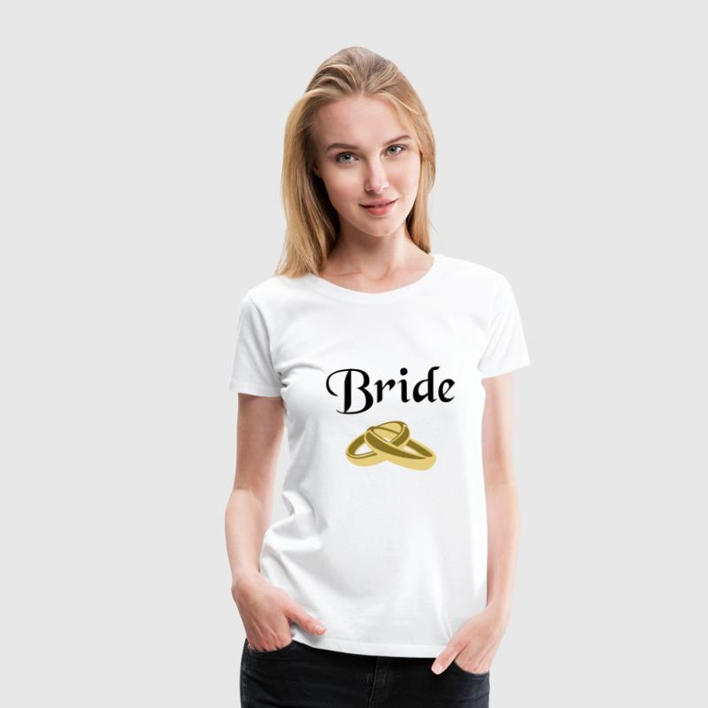 Bride, marriage, wedding, ring - Women's Premium T-Shirt