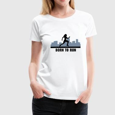 loopster, lopen - woman running, city run - Vrouwen Premium T-shirt