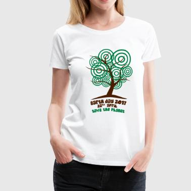 Earth day 2017 - Baum - Frauen Premium T-Shirt