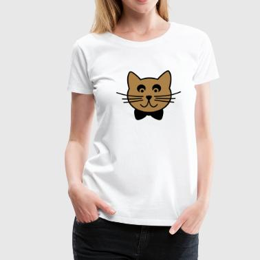 Chat avec noeud de cravate - T-shirt Premium Femme