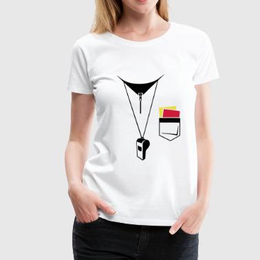 Referee - Football - Map and whistle - Women's Premium T-Shirt