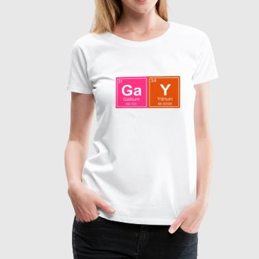 Gays Rude Geeky Gay Periodic Elements - Women's Premium T-Shirt