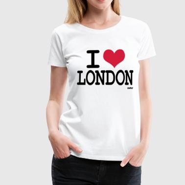 i love london by wam - Dame premium T-shirt