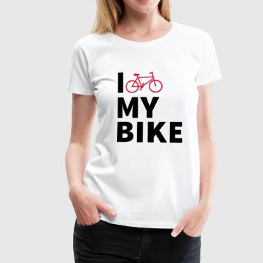 i love my bike Bags & Backpacks - Women's Premium T-Shirt